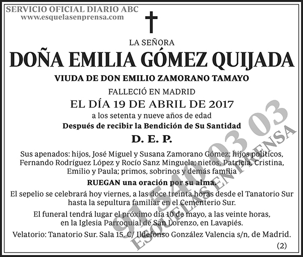 Emilia Gómez Quijada